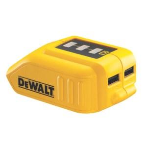 Batteriadapter DeWalt DCB090 10,8 - 18 V -> USB (x2); För laddning av telefonbatterier