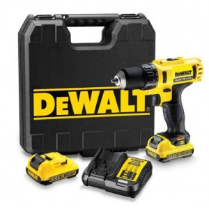 Skruvdragare/borr DeWalt DCD710D2; 10,8 V; 2x2,0 Ah batt.