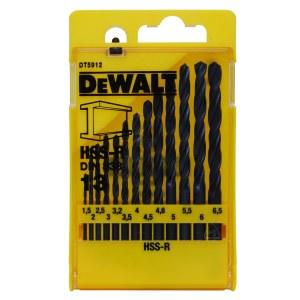 borrsats för metall DeWalt HSS-R; Ø1,5-6,5 mm; 13 st.