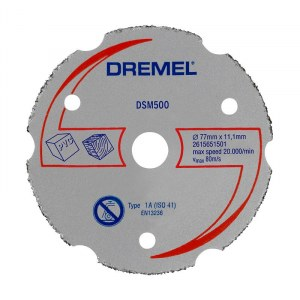 Universalkapskiva i hårdmetall för planskärning Dremel 2615S500JB; 77 mm