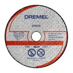 Kapskiva för mursten Dremel DSM520; 2 st., Lämplig för Dremel DSM20 verktyg