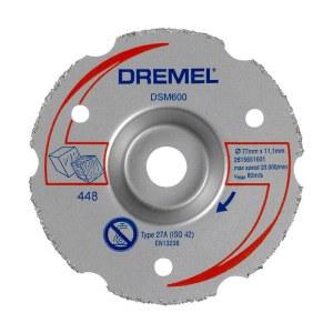 Universalkapskiva i hårdmetall för planskärning Dremel 2615S600JB; 77 mm