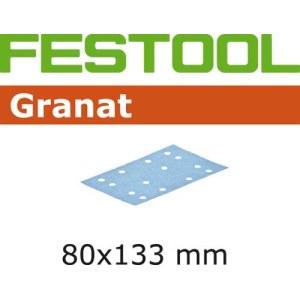 Sandpapper för planslipar Granat; 80x133 mm; P80; 10 st.