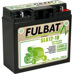 Batteri för åkgräsklippare  Fulbat SLA12-18; 12 V; 18 Ah med gel lämplig för Stiga, Alpina, Castlegarden