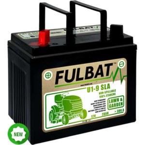 Batteri för åkgräsklippare  Fulbat U1-9 SLA; 12 V; 28 Ah lämplig för Husqvarna, Partner, McCulloch