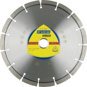 Diamantdisk för torrskärning Klingspor DT 600 GU Supra; 230x2,6x22,23 mm