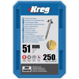 Träskruv Kreg SML-C2; Maxi-Loc; 2,00''; 51 mm; 250 st.