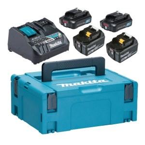 Tillbehörsset Makita PowerPack 12 V + 18 V; 2x5,0 Ah/2x2,0 Ah batt. + laddare Makita DC18RE