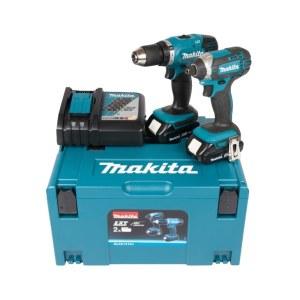 Verktygspaket Makita DLX2141AJ (DDF453+DTD152); 18 V; 2x2,0 Ah batt.