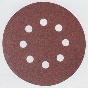 Sandpapper Velcro Backed 125 mm; K80; 10 st.