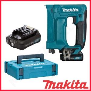 Häftpistol Makita ST113DWAJ; 10,8 V; 2x2,0 Ah batt.