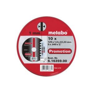 Kapskiva Metabo 616359000; 125x1,0 mm; 10 styck; för metall