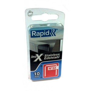 Häftklammer  Rapid; 11,4x10 mm; 1080 styck; typ 53; rostfritt stål