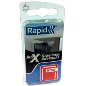 Häftklammer  Rapid; 11,4x12 mm; 1080 styck; typ 53; rostfritt stål