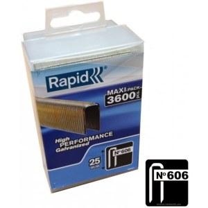 Häftklammer  Rapid; 6x25 mm; 3600 st.; typ 606