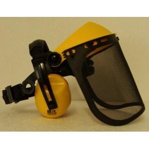 Visir med hörselskydd i metall 6-699