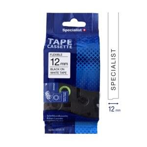 Tejp för klistermärken och etiketter Specialist 31/2-FX231; 12 mm