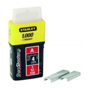 Häftklammer  Stanley; 11,3x4 mm; 1000 styck; typ A; rostfritt stål