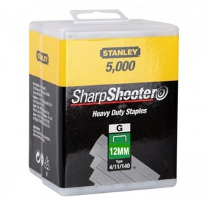 Häftklammer  Stanley 1-TRA708-5T; 12 mm; 5000 styck; typ 4/11/140; rostfritt stål