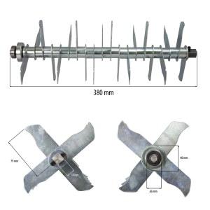 Cylinder med metallknivar till vertikalskärare Stiga SV 415 E