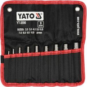 Håltagare för läder Yato YT-3590; 2,5-10 mm; 9 st.